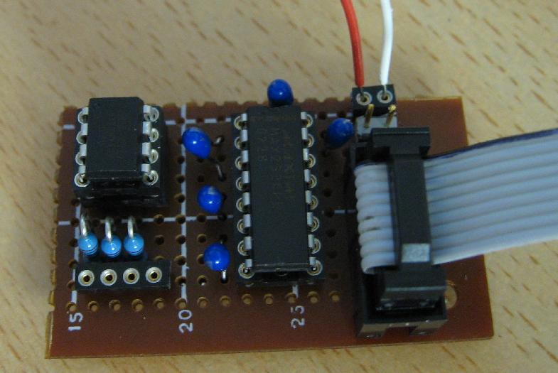 The Atmel ATtiny13V ADC Sampler to RS-232 Interface