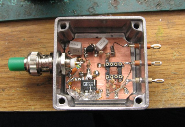 Inside the power head before the opamp was inserted.