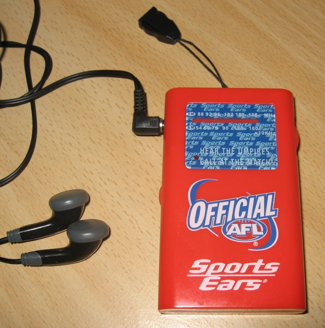 The AFL SportsEars Receiver