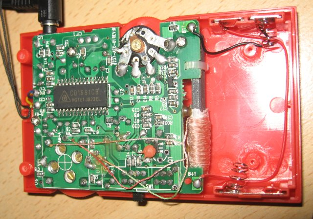 The Insides of the AFL SportsEars Receiver