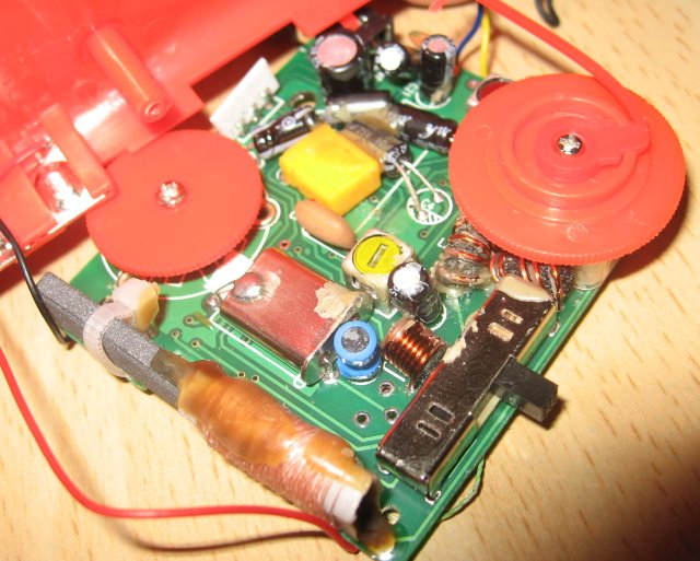 Other Side of the Receiver Board showing the Crystal