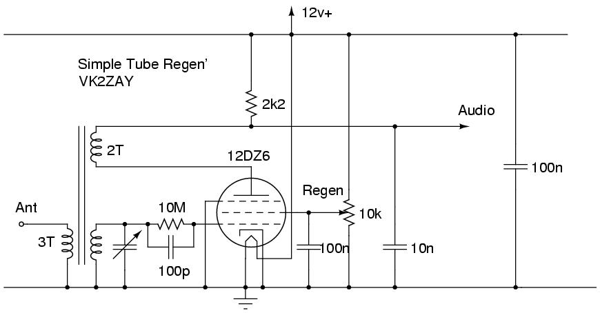 regenerative receiver circuit