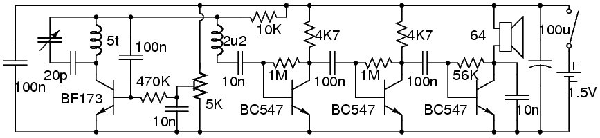 FM Regenerative Receiver Circuit Diagram