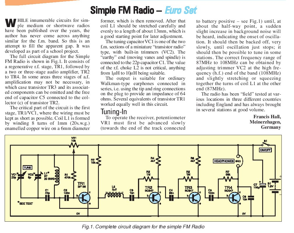 Pocket Regen Radio Circuit Old Am And Newer Fm Versions The