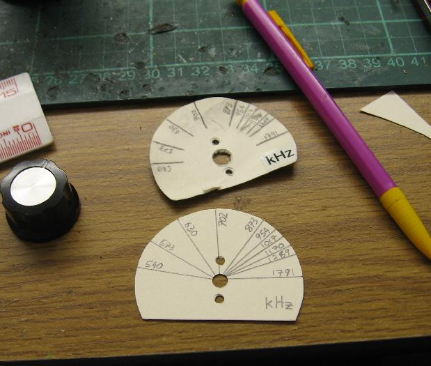 Marking the Dial Label