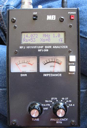 The MFJ-269 Measuring my Bicycle Loop Antenna