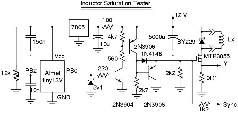 alan yates laboratory inductor saturation tester rh vk2zay net Inductor in a Circuit Diagram Inductor Coil