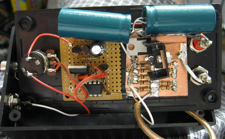 The Inside of the Inductor Saturation Tester